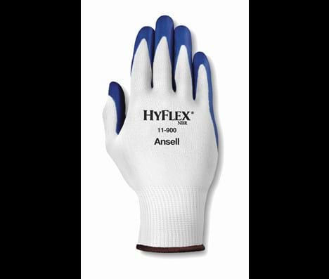 Ansell Hyflex 11900 maat 10 blauwe coating op wit nylon
