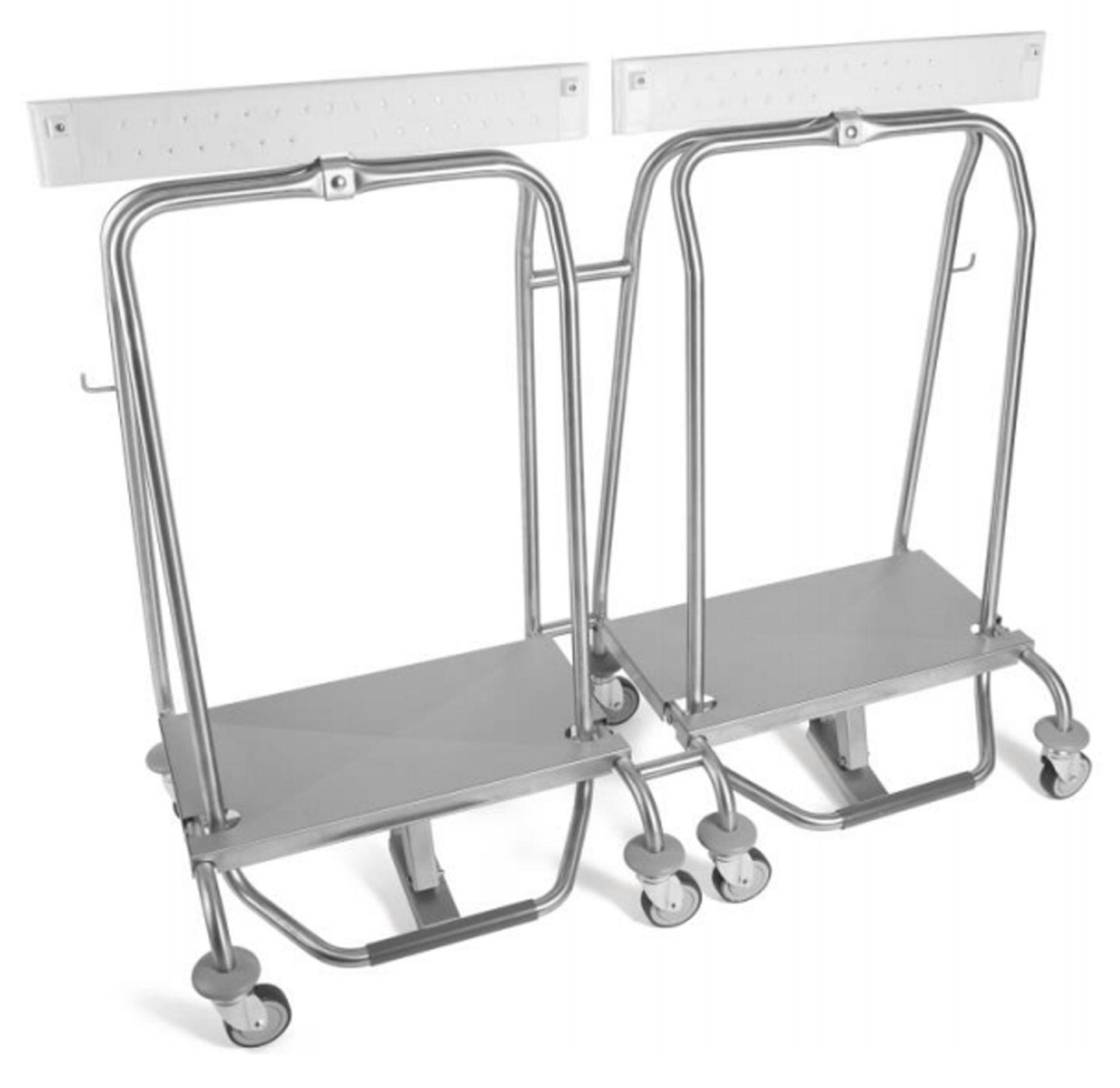Droppy duo rvs 70ltr op 4 wielen inclusief remmechanisme for Rvs ladenblok op wielen