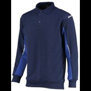 Orcon Capture Joe polosweater 60% kat 40% pol donkerblauw/korenblauw maat S
