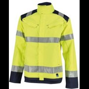Orcon Capture high visibility werkjas model James geel donkerblauw maat S