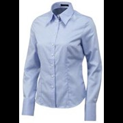 Tricorp Dames blouse mt. 32 Oxford blauw basic-fit