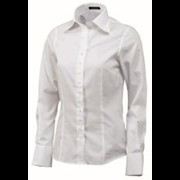 Tricorp Dames blouse mt. 32 Oxford wit slim-fit